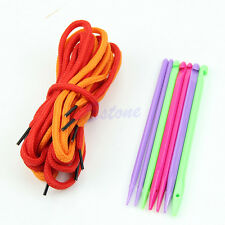 7pcs 4.0-7.0mm Magic Plastic DIY Knitting Needles Weave Crochet Hooks with Ropes