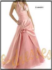 divine robe de soirée/mariage/gala/cocktail rose T36/38 neuve