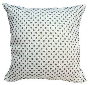 EC019 Light Green Dot on White Upholstery Cushion Cover/Pillow Case *Custom Size