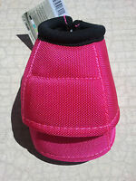 Classic Equine DYNOHYDE 2520D DESIGNER No Turn Bell Boots Horse Tack PINK