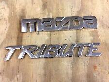 2005 mazda tribute rear lift gate hatch emblem set 2001-2007