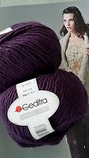 600g Fashion Trend GEDIFRA Schachenmayr WOLLE Aubergine Lila MERINO NATUR Luxus