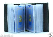 Genuinne Soft BLACK Leather Credit Card Holder Case Wallet For Mens Womens - 603