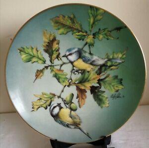 Hamilton Colourful Birds of Britain's Heritage Collectors Plate Blue Tit