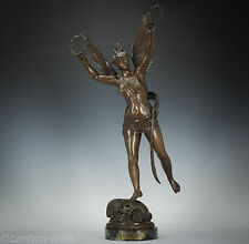 Victor Rousseau (1865-1954) Victoria Goddess of Victory Bronze Sculpture 1890 Nike