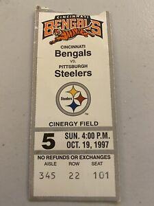 1997 Ticket Stub Pittsburgh Steelers vs  Cincinnati Bengals At Cinergy Field