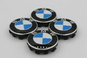 4x für BMW Nabendeckel Nabenkappen 55mm blau