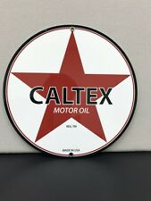 Caltex motor oil vintage advertising sign oil gas gasoline texaco