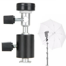 Flash Shoe Umbrella Holder Swivel Light Stand Mount Bracket C For Camera DSLR