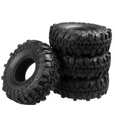 "4X 110MM OD Tire Tyre w/ Foam for RC 1/10 Crawler 1.9"" Wheel Rims SCX10 D90 CC01"