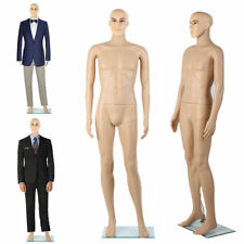 Adult Male Full Size Man Men Round Head Store Mannequin w/ Stand Display Clothes