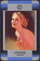 Playing Cards 1 Single Card Old COSMOS LAMPS Lightbulbs Advertising Art GIRL N