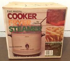 New - Vintage MUNSEY Model CF78N 900W Electric Fryer Cooker Steamer Fast Heating