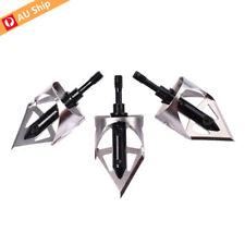 3X Arrowheads Broadheads 100 Gr 2 Blades Crossbow 360 Broadhead Hunting Archery