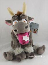 "Disney Store Exclusive Frozen Sven 14"" Holiday Plush Toy Doll Snowflake Tongue"