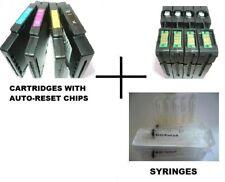 Genuine OCP RICOH 3110dn Dye Sub GC-41 GC41 Cartuchos Recargables + chips de reinicio