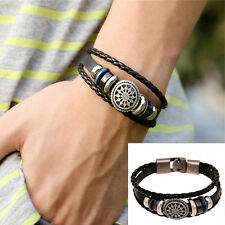 Punk Women Man Wristband Metal Studded Leather Bracelet A Great Gift Funny