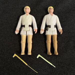 1977 Kenner Star Wars Luke Skywalker w/DOUBLE TELESCOPING LIGHTSABER Hong Kong +