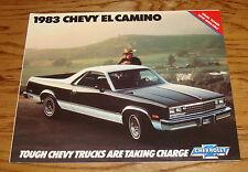Original 1983 Chevrolet El Camino Sales Brochure 83 Chevy SS