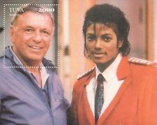 Frank SINATRA Michael Jackson icone del 20th secolo 2000 Gomma integra, non linguellato FRANCOBOLLO SHEETLET