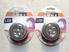2X Lampes a 3 Led Spot Adhésives Puissantes Autocollantes Neuves Sous Blisters