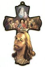 Holzkreuz Jesus im Ölberg Kreuz Abendmahl Hl. Maria 21,5 cm Kommunion KR 2004