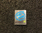 Pentium 3 Logo Emblem Badge brushed aluminum adhesive 24 x 19 mm 037c