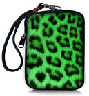 Useful Zipper Digital Camera Bag Case Pouch+Sleeve Neoprene Green Leopard Cover