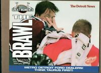 THE BRAWL! CHRIS OSGOOD & PATRICK ROY DETROIT RED WINGS 8x10 Collector Card!