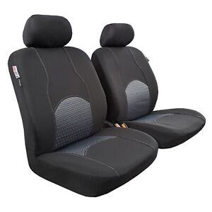 For Mitsubishi Triton Dual Cab MQ DC 2006-2019 Seat Cover Front Pair Airbag Safe