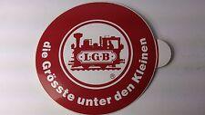 Original LGB 8.5 cm Diameter Sticker 02 - die Grosste unter den Klinen (PL)