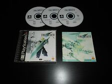 Final Fantasy VII 7 Complete Playstation 1 PS1 Game CIB Misprint Black Label