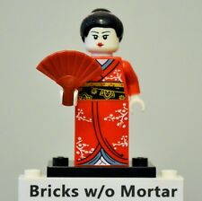 New Genuine LEGO Kimono Girl Minifig with Fan Series 4 8804