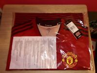 Match Worn/ Issued player Spec Manchester United Home Shirt 2018/19 Short Sleeve