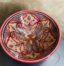 "Moroccan Ceramic Plate Salad Pasta Bowl Serving Handmade Wall Hanging 10"" Med"