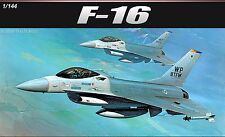 NEW Academy 1/144 Scale F-16 Aircraft Plastic Model Toy Military Airplanes 12610