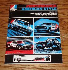 1966-1972 American Motors AMC Jeep Performance Catalog Brochure 67 68 69 70 71
