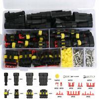 26 Kits 1/2/3/4 Pin Way Car Electrical Wire Connector Plug 352PCS Super Seal Set