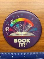 """Vintage Pizza Hut Book It! Button Pin 1988 3"""" Lenticular Badge"""