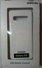 LED Back Cover Case for Samsung Galaxy S10.  White