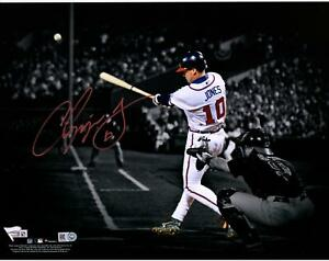 "Chipper Jones Atlanta Braves Autographed 11"" x 14"" Spotlight Photograph"
