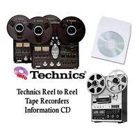 Technics tape recorder manuals cd rs series reel to reel models