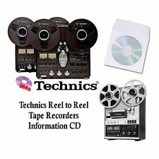 Technics tape recorder manuals cd rs series reel to reel models