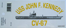 United States USS JOHN F. KENNEDY CV-67 Military Sticker Armed Forces America