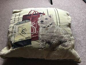 Lovely White Westie Dog Cushion Cover