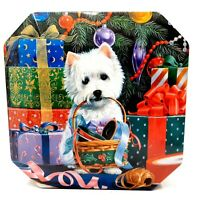 Adorable Cadbury Chocolates West Highland Terrier Dog Christmas Holiday Tin
