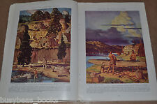 1937 magazine articles about INDIANS of North America, Natives, color art