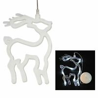 8 LED Xmas Window Display Lights Bright White Christmas Festive Decoration Hang
