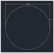 "1pc Acrylic Plastic (plexiglass)  Round  Sheet  - 1/8"" x 9""  Circle  -  Clear"