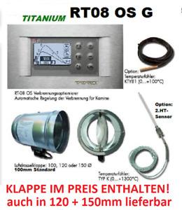 TATAREK  Ofen-Kaminsteuerung graph Display RT08 OS G2 HT- Sensor/Luftklappe100mm